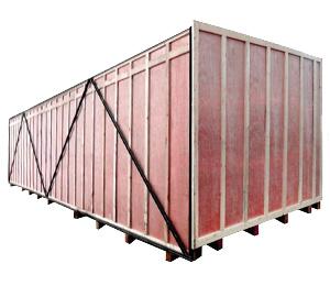 胶合板铁木箱